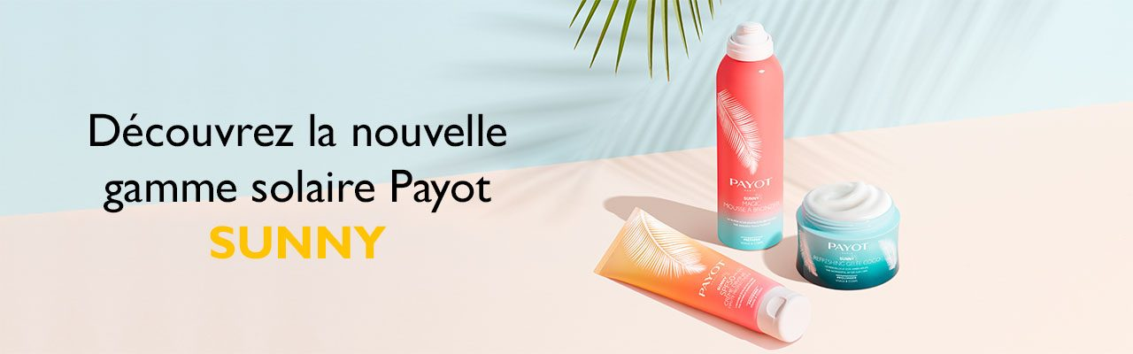 Encart solaire Payot - Gamme SUNNY